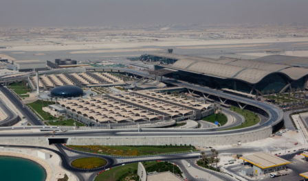 aerial view hamad international airport