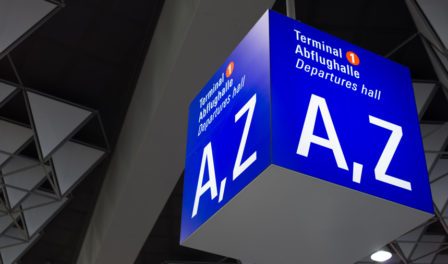 a to z airport signage