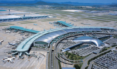 aerial view seoul incheon airport