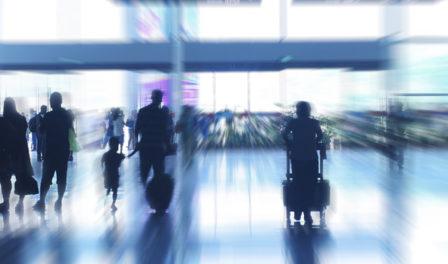 机场人群的模糊图象