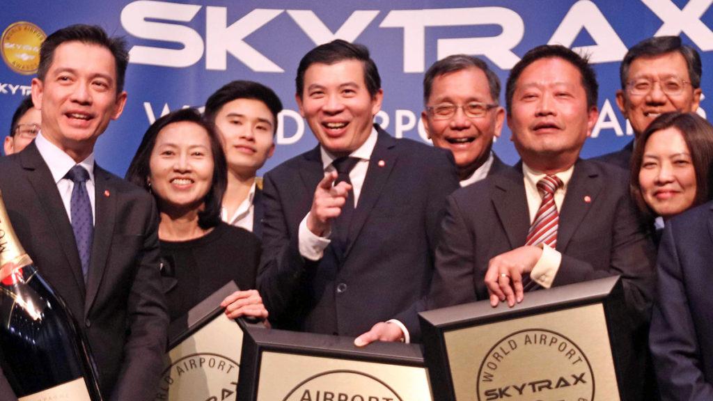 樟宜机场在2019年skytrax颁奖典礼上