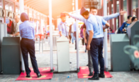 control de seguridad de aeropuerto