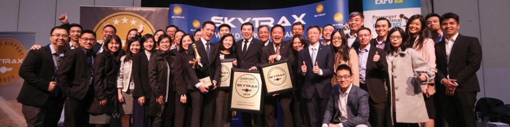 celebración del equipo del aeropuerto de changi en singapur