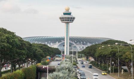 torre de control del aeropuerto de changi