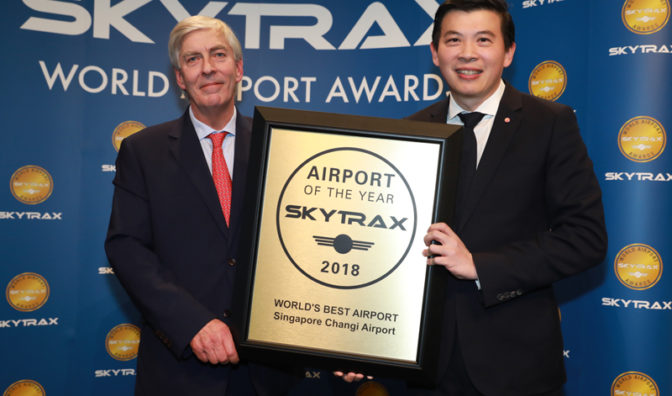 changi at the 2018 skytrax awards