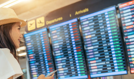airport flight information screens
