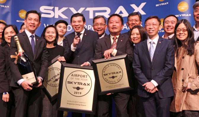 changi airport celebrate skytrax awards