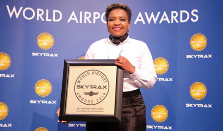 king shaka international named best airport staff africa