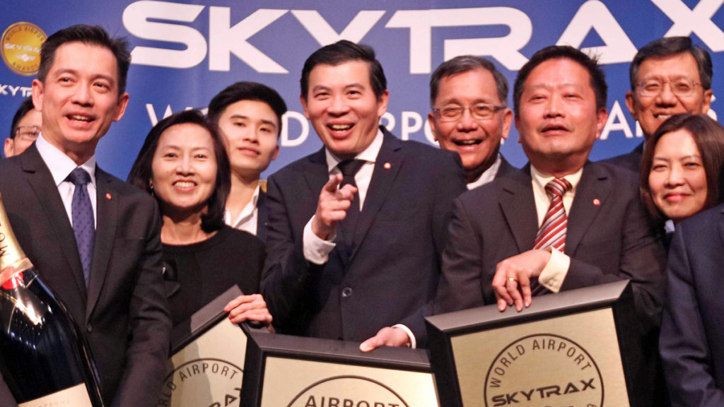 changi airport at the 2019 skytrax awards